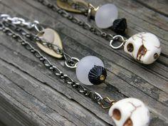 White Skulls That Dangle Earrings by SavannahVoodoo on Etsy, $10.00