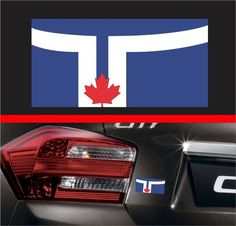 4  Toronto City Flag Vinyl Decal Bumper Sticker Canada Self Adhesive Macbook Car