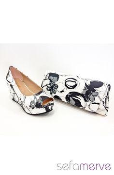 İlgi Hazal Dolgu Topuk Ayakkabı 14301 03 Siyah