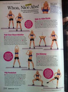 Woah Nice Abs workout - Tracy Anderson - Cosmo May 2013