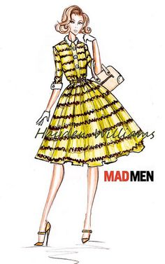 Hayden Williams for Mad Men collection: Design #3 by Fashion_Luva, via Flickr