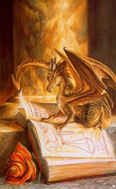 Sorrel's Dragons: Here we have a small dragon. I'm not sure what he's researching, but it might just be the means to make himself into a large dragon...