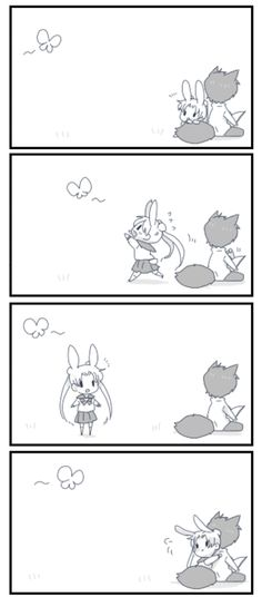 blue-koneko:    Aaww.. Nothing can keep her away from Mamoru for too long.. <3    I am super charmed by the animal ears and Usagi hopping after the butterfly and then getting, like, three feet away from Mamoru and NOOO SHE HAS TO GO BAAAACK and all of that.But also.Usagi curled up by Mamoru's fluffy tail.  While he reads the entire time.I need this in my life forever.  Animal ears and tails and Usagi curling up with Mamoru's tail because it's the warmest, most amazing place in t
