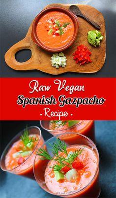 Raw vegan Spanish gazpacho recipe by Anya Andreeva, Live Love Raw: http://www.liveloveraw.com/raw-vegan-recipes/gazpacho-spanish-tomato-soup/