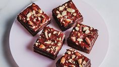 Double-Almond Chocolate Brownie Recipe   Bon Appetit