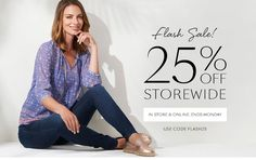 25% off sitewide. Use promo code FLASH25 to redeem
