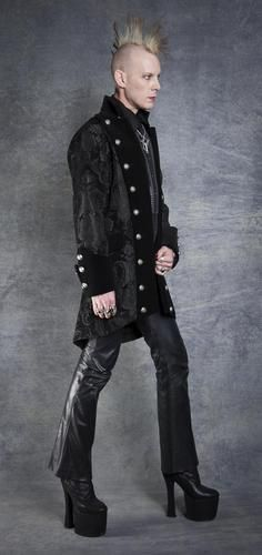 Shrine Gothic Vampire Goth Victorian Underworld Pirat Coat Jacket Black RARE   eBay   .... would wear it but would totally love to find a guy who would love to wear it just as much as I would