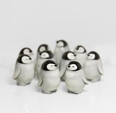 Baby Penguins by RamalamaCreatures.deviantart.com on @DeviantArt