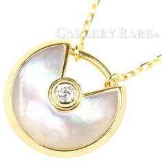 c3c7dd6d91 カルティエ ネックレス アミュレット ドゥ カルティエ XS ダイヤモンド 0.02ct ホワイトマザーオブパール K18YGイエローゴールド  B3047100 Cartier