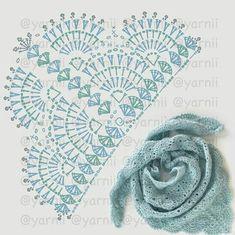 New Ideas crochet poncho patrones charts Crochet Shawl Diagram, Crochet Motifs, Crochet Stitches Patterns, Crochet Chart, Knitting Patterns, Poncho Patterns, Lace Patterns, Knitting Ideas, Crochet Doilies