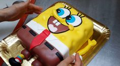 Spongebob Cake - How To - Fast and Easy by CakesStepbyStep