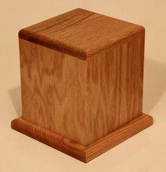 Hardwood Urn - Standard - Oak - celebratelifeiowa Affordable Cremation, Iowa, Funeral, Hardwood, Table, Furniture, Home Decor, Natural Wood, Decoration Home