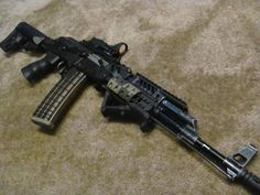 Assault rifles Loading that magazine is a pain! Get your Magazine speedloader today! http://www.amazon.com/shops/raeind