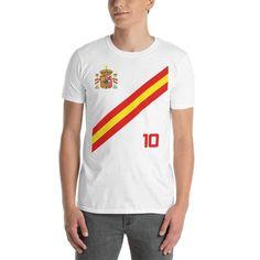<transcy>Spanje voetbalshirt stijl shirt Espana</transcy>