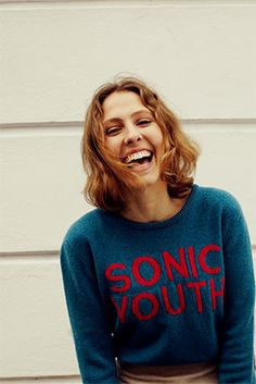 Sonic Youth 100% lambswool jumper. Made in Scotland by Hades