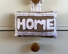 homemade hanging PARTY cushion by EffiesRags on Etsy