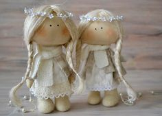 Little Angel-Christmas Present-Textile by BroderieLittleCorner