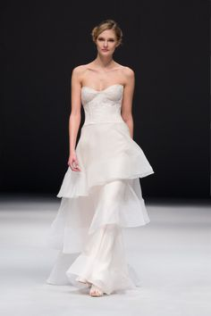 Feminine Jenny Lee Bridal wedding dress: http://www.stylemepretty.com/2014/10/29/designer-spotlight-from-the-smp-look-book/