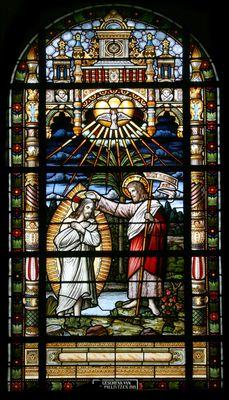 Doop van Jezus in de Jordaan -- by Atelier Frans Nicolas en Zonen, 1919 -- in H. Johannes de Doper, Mechelen