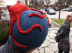 """Knitted """"Eat Your Head"""" Hat! <3 it!"""