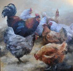 Schilderij met kippen - overig