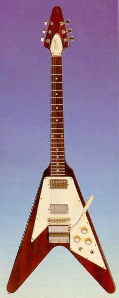 """1968 Vintage GIBSON Marc Bolan Signiture """"Flying-V"""" Solid-Body Electric Guitar..."""