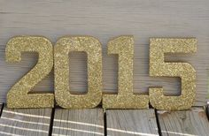 Gold Glitter 2015 New Years Eve Stand Up by LettersFromAtoZ