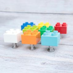 Boy Dresser, Dresser Knobs, Cabinet Knobs, Cabinet Hardware, Lego Duplo, Little Architects, Brick Material, Geek Decor, Shops
