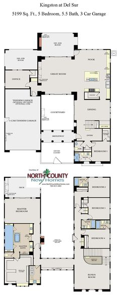 Kingston At Del Sur New Homes Floor Plan 2 New Homes In San Diego