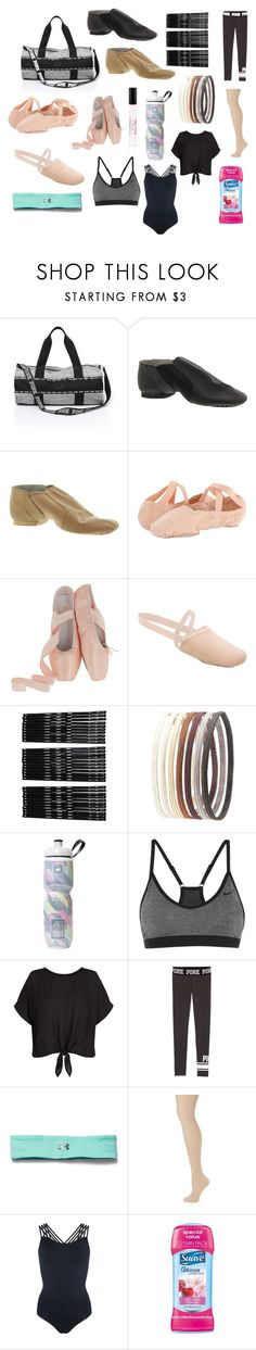 """What's in my dance bag"" by lexistorm129 on Polyvore featuring Bloch, Monki, Charlotte Russe, Victoria's Secret, NIKE, New Look, Under Armour, ZAC Zac Posen and Pepper & Mayne"