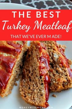 Best Turkey Meatloaf - You'll love this easy family meal! Mix up ground turkey meatloaf in one bowl, then bake. So easy, -The Best Turkey Meatloaf - You'll love this easy family meal! Mix up ground turkey meatloaf in one bowl, then bake. So easy, - Healthy Turkey Recipes, Healthy Ground Turkey, Ground Meat, Healthy Turkey Meatloaf, Easy Ground Turkey Recipes, Turkey Meatloaf Gluten Free, Healthy Meatloaf Recipes, Recipes With Ground Turkey, Ground Chicken Meatloaf