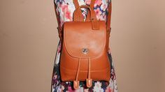 "VINTAGE COACH 9"" x 8"" Light Brown Leather Back Pack #C0763-F09960 India by COACHCROSSING on Etsy"