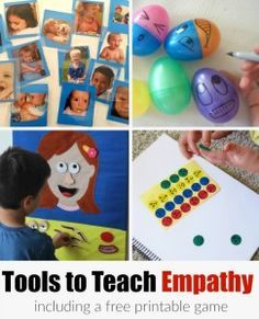 A list of activities including a printable game that can help children learn about empathy