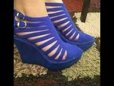 Discover thousands of images about Alexandra Eszlinger Crochet Sandals, Crochet Boots, Crochet Slippers, Spring Boots, Knit Shoes, Blue Heels, Peep Toe Shoes, Boot Cuffs, Fashion Shoes
