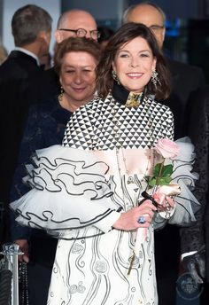 Princess Caroline attended the 2017 Rose Ball  in Monaco this weekend.