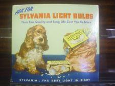 "Small Albert Staehle Butch Cocker Spaniel Sylvania Light Bulb Poster 8.75""x10"""