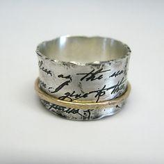 Juliet Spinner anillo en plata esterlina y oro de 10 k Joyas De La Corona ef6059e52a4