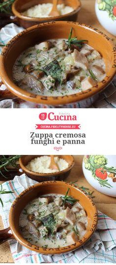 #Zuppa cremosa #funghi e panna della nostra utente Simona. Unisciti alla nostra Community ed invia le tue ricette!