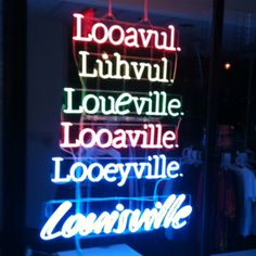 Ha!!! The many different ways to say Louisville