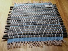door mat from recycled bike inner tubes. upcycled by rewindlab