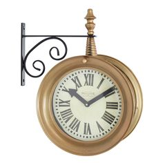 wall clock the aspire delcampe train station x in wall clock will bring beauty to any room with its unique hanging style the black metal