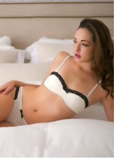 d3382a2e6af61 Lula Lu Petties Josette Demi Cup Bra -The Ivory lace with contrasting Black  lace trim makes the retro inspired Josette pop! Underwire styling with  lightly ...