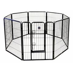 Keep your pet safe with this 8 panel exercise pen. Suitable for indoors or outdoors, this pen is durable and convenient.
