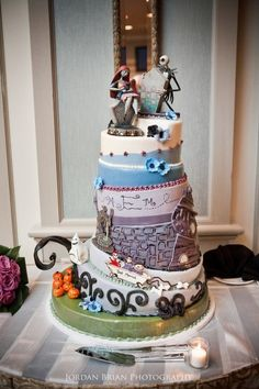 Jack and Sally Wedding Cake!