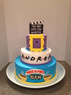 Friends TV Show Themed Bridal Shower Cake... I want this!!!