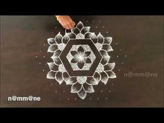 Chukki Rangoli Design || Kolam with 13-7interlaced dots - YouTube