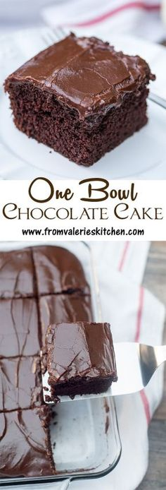 Nearly as easy to make as a boxed mix! This tried and true recipe is perfect for satisfying those intense chocolate cravings. ~ https://www.fromvalerieskitchen.com