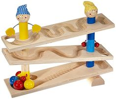HABA First Wooden Ball Track Roll 'n Roll 'n Roll. Cool toy. Make ourselves. No way I'm paying $90