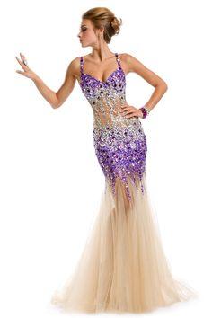 Mermaid Long 2014 Open Back Prom Dress