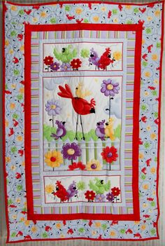 Susybee Bird Portrait - http://www.baby-quilts-etc.com/images/100_2391a.jpg
